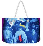 Emiliano Zapata In Group Portrait Xochimilco  Outside Of Mexico City 1914-2013 Weekender Tote Bag