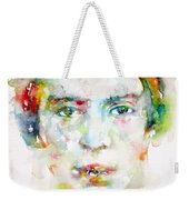 Emily Dickinson - Watercolor Portrait Weekender Tote Bag