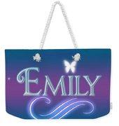 Emily Name Art Weekender Tote Bag