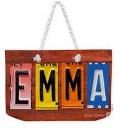 Emma License Plate Name Sign Fun Kid Room Decor Weekender Tote Bag