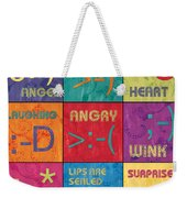 Emoticons Patch Weekender Tote Bag