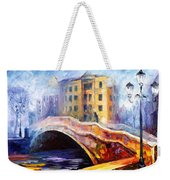 Emotional Autumn - Palette Knife Oil Painting On Canvas By Leonid Afremov Weekender Tote Bag