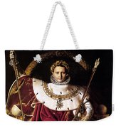 Emperor Napoleon I On His Imperial Throne Weekender Tote Bag