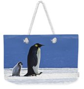 Emperor Penguin And Chick Weekender Tote Bag