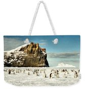Emperor Penguin Colony Cape Washington Antarctica Weekender Tote Bag