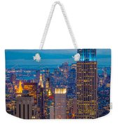 Empire State Blue Night Weekender Tote Bag