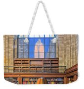Empire State Building At The New York Public Library Weekender Tote Bag