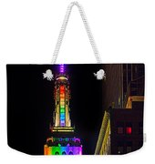 Empire State Building Lit For Gay Pride Weekender Tote Bag