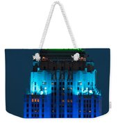 Empire State Building Lit Up At Night Weekender Tote Bag