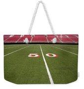 Empty American Football Stadium 50 Yard Line Weekender Tote Bag