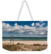 Empty Beach Weekender Tote Bag