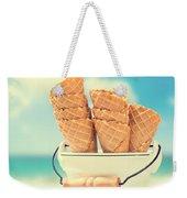 Empty Ice Cream Cones Weekender Tote Bag