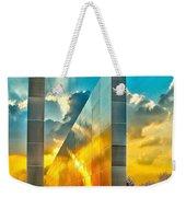 Empty Skies Sunset Weekender Tote Bag by Nick Zelinsky