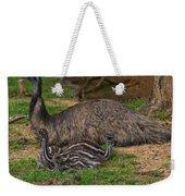 Emu And Chicks Weekender Tote Bag