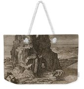 Enceladus Buried Underneath Mount Etna Weekender Tote Bag