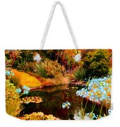 Enchaned Blue Lily Pond Weekender Tote Bag