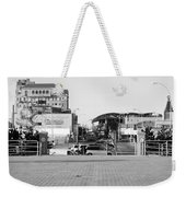 End Of The Line In Black And White Weekender Tote Bag