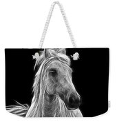 Energetic White Horse Weekender Tote Bag