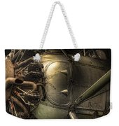 Radial Engine And Fuselage Detail - Radial Engine Aluminum Fuselage Vintage Aircraft Weekender Tote Bag by Gary Heller