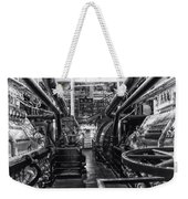 Engine Room Queen Mary 02 Bw 01 Weekender Tote Bag