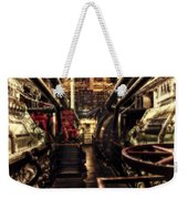 Engine Room Queen Mary 02 Sepia Weekender Tote Bag