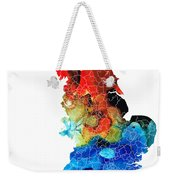 England - Map Of England By Sharon Cummings Weekender Tote Bag