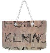 English Alphabet Music Sheets  Weekender Tote Bag