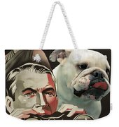 English Bulldog Art Canvas Print - Rear Window Movie Poster Weekender Tote Bag