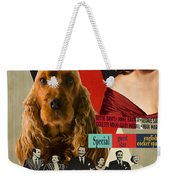 English Cocker Spaniel Art - All About Eve Weekender Tote Bag