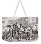 English Farm Horses, 1823 Weekender Tote Bag