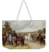 English Horse Fair On Southborough Common Weekender Tote Bag by John Frederick Herring Snr
