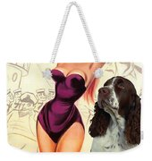 English Springer Spaniel Art Canvas Print - Doctor At Sea Movie Poster Weekender Tote Bag