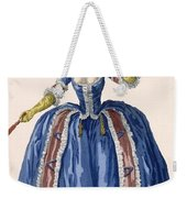 English Style Hooped Dress In Electric Weekender Tote Bag