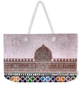 Engraved Writing And Colored Tiles No1 Weekender Tote Bag