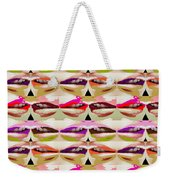 Enjoy Bliss Of Artistic Sensual Aura Lips  Kiss Romance Pattern Digital Graphic Signature   Art  Nav Weekender Tote Bag