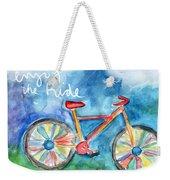 Enjoy The Ride- Colorful Bike Painting Weekender Tote Bag