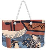 Enjoying The Fireworks And The Cool Of The Evening Weekender Tote Bag