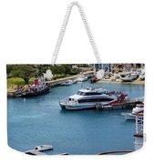 Enjoying The Harbor View Weekender Tote Bag