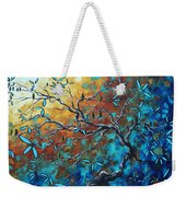 Enormous Abstract Bird Art Original Painting Where The Heart Is By Madart Weekender Tote Bag