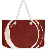 Enso No. 107 Red Weekender Tote Bag by Julie Niemela