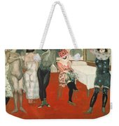 Enter!, 1913 Oil On Canvas Weekender Tote Bag