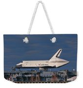 Enterprise At The Intrepid Weekender Tote Bag