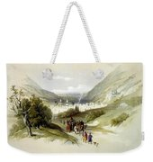 Entrance And Exit To Nablus Shechem Weekender Tote Bag