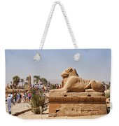 Entrance Sculpture By The Temple Of Karnak Weekender Tote Bag