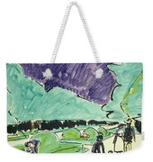 Entrance To A Large Garden In Dresden Weekender Tote Bag by Ernst Ludwig Kirchner