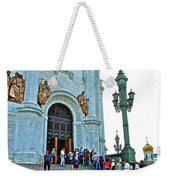 Entrance To Christ The Savior Cathedral In Moscow-russia Weekender Tote Bag