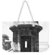 Entrance To Sentry Tower Castillo San Felipe Del Morro Fortress San Juan Puerto Rico Bw Film Grain Weekender Tote Bag