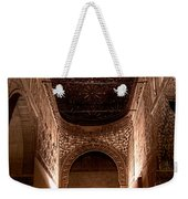 Entrance To The Ambassadors Hall In The Alhambra Weekender Tote Bag