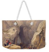 Entrance To The Kojak Pass From Parush Weekender Tote Bag