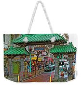 Entry Gate To Chinatown In San Francisco-california Weekender Tote Bag